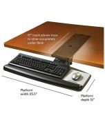 3M™ Keyboard Tray, Knob to Adjust Height and Tilt, Wood Platform with Gel Wrist
