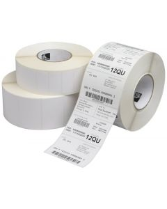 """Zebra Technologies 10015341 Z-Select 4000D Paper Label, Direct Thermal, Perforated, 2.25"""" x 1.25"""", 1"""" Core, 5"""" OD (Roll of 2100, Case of 12 Rolls) (Pack of 12)"""