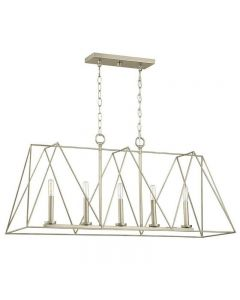 Ferncroft 5-Light Silver Ridge Chandelier with Antique Nickel Accents