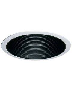 Halo 310 Series 6 in. Black Recessed Ceiling Light Coilex Baffle with White Trim