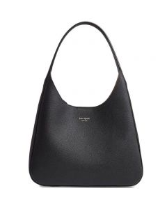 KATE SPADE NEW YORK Medium Rita Leather Hobo Bag - Black