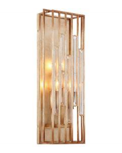 Minka Metropolitan N7723-710 Ruxton Hall - Three Light Wall Sconce, Skyline Gold Leaf Finish