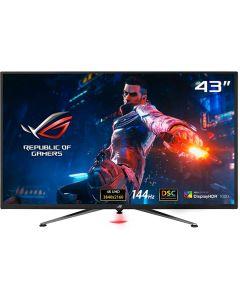 "ASUS ROG Swift PG43UQ 43"" 4K HDR DSC Gaming Monitor, (3840 x 2160), 144Hz, G-SYNC Compatible, 1ms, Eye Care, DisplayHDR 1000, DisplayPort HDMI USB, Aura Sync,BLACK"