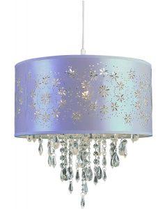 """Trans Globe Lighting PND-607 Lilac Indoor Desert Rose 15"""" Pendant, White"""