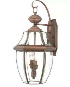 Washington Mews 2-Light Outdoor Wall Lantern by Charlton Home