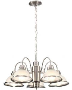 Hampton Bay Halophane 5-Light Brushed Nickel Chandelier 245200